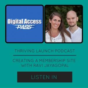 Memebership Sites for Passive Income - Ravi Jayagopal