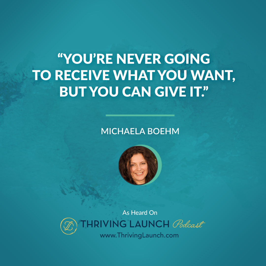 pleasuring a woman - michaela boehm - thriving launch