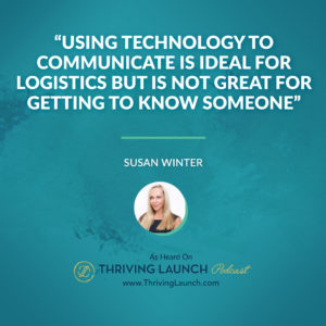 Susan Winter Relationship Building Skills Thriving Launch Podcast
