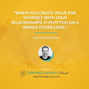 Clinton Senkow Influencer Network Thriving Launch Podcast