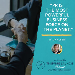 Mitch Russo Business Development Strategy Thriving Launch Podcast