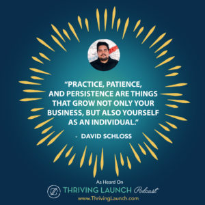 David Schloss Overcoming Adversity Thriving Launch Podcast