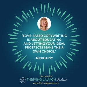Michele PW Creative Copy Thriving Launch Podcast