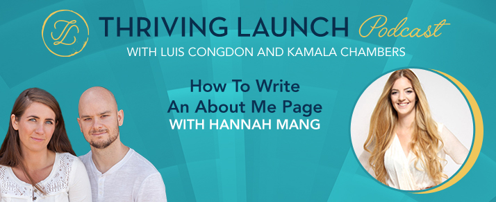 How To Write An About Me Page – Hannah Mang